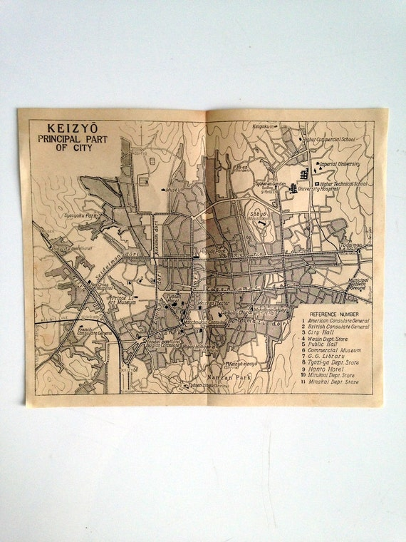 Japanese Tourism  Map Prior to Bombing of Pearl Harbor - Keizyo