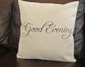 Good Evening / Pillow Cover/ 16x16