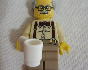 Custom Grandpa Necklace Made With Genuine LEGO® Bricks