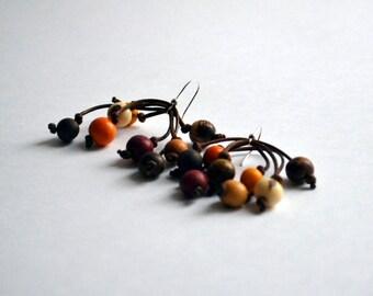 Brown Tones Bohemian Earrings - Spring Earrings - Natural Earrings - Brown Seeds Earrings - Bohemian Jewelry - Acai Earrings