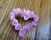 Rose Heart Pin by Kim Lugar
