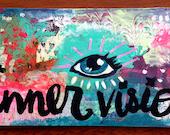 Inner Vision original mixed media abstract painting