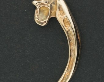 Replica Eagle Claw Pendant in Antique Bronze