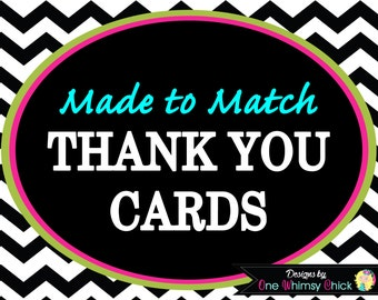 THANK YOU CARDS - Made to Match and Design in our Store