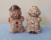 Set of Gingerbread Salt and Pepper Shakers - Japan