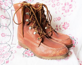MYSTERY BRAND High Top Lace Up Working Boots
