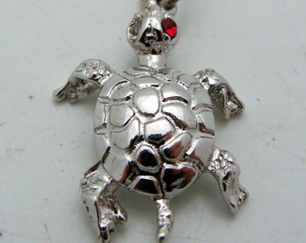 One Eyed Lucky Turtle Pendant