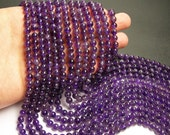 Amethyst - 6 mm round - A quality- 1 full strand - 66 beads - RFG93