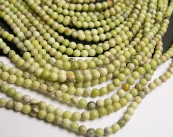 Butter Jade 4mm round beads - full strand - 100 beads per strand - AA quality - RFG24