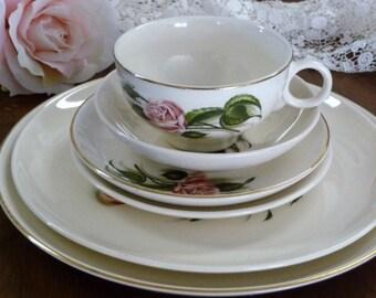 Rose 6 piece dinnerware china set