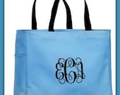 Monogram Bridesmaid Tote - Bridesmaid Tote - Bridesmaid Gift - personalized Bridesmaid Bag - Maid of Honor Matron of Honor