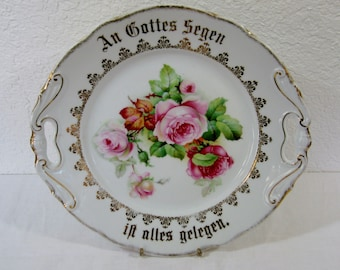 Made in Germany Shabby chic/ romantic plate