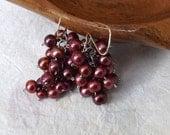 Custom order - Martha - red pearl set
