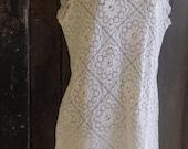 "ivory lace shift dress, 38"" bust"