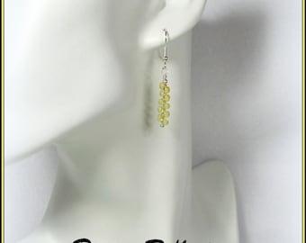 Yellow Teardrop Earrings, Topaz Earrings, Dangle Earrings, Gifts for Her