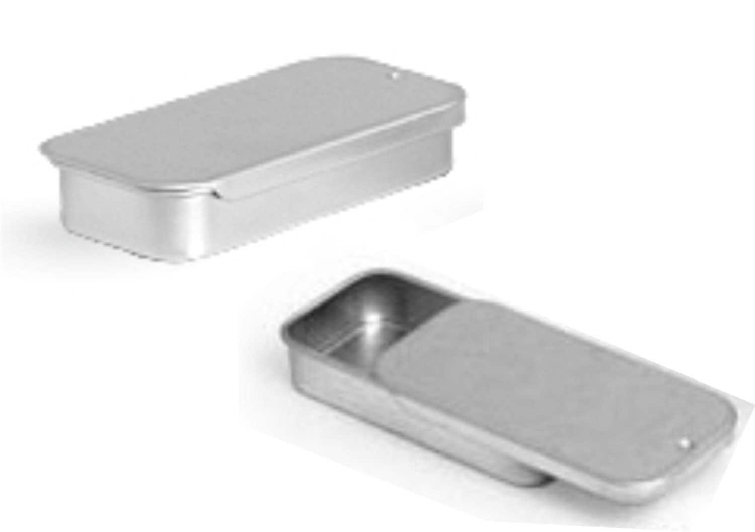 magnakoys small metal slide top tin containers for crafts