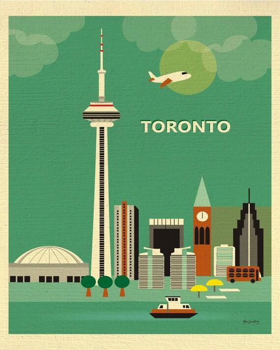 Toronto Print, Toronto Skyline, Toronto Art, Canada Print, Toronto giclee Print, Toronto Office Art, Toronto vertical art   style - E8-O-TOR
