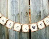 Thank You Banner Rustic Vintage Style Wedding Photo Prop