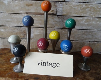 Vintage Billiard Bakelite Pool Balls 1 out of the set of 2