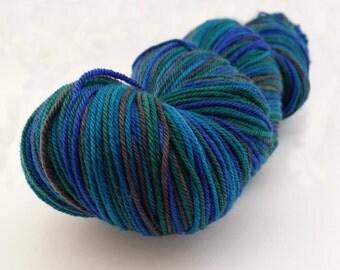 Yarn Handdyed - Stormy Seas - Purple and Blue