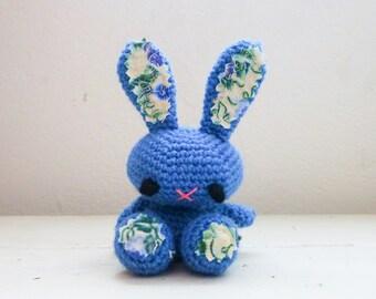 Amigurumi bunny, crochet bunny, blue bunny, bunny tail, rabbit doll, amigurumi animal, crochet amigurumi, ready to ship, handmade, kawaii