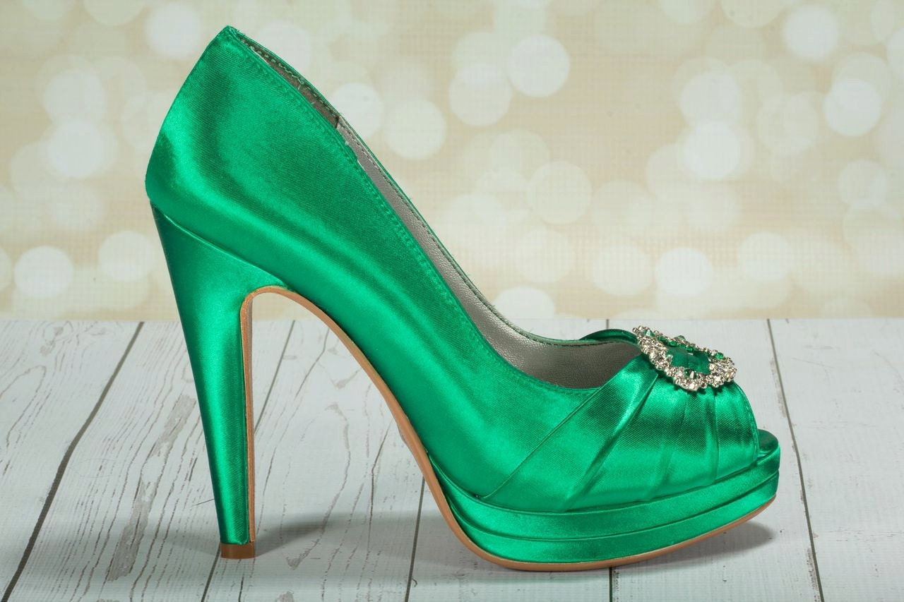 Emerald Green Wedding Shoes Green Irish Wedding Platform