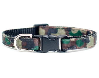 "Cat Collar - ""The Roky"" - Camo Print"