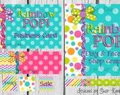 Chevron Etsy Banner Shop Set - Polka Dot Facebook Timeline Cover - Rainbow Etsy Shop Set
