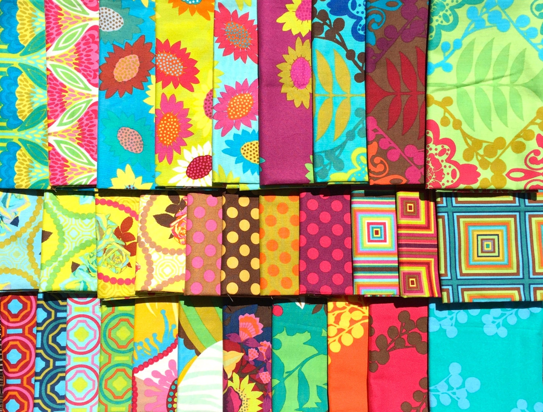 Anna maria horner garden party free spirit fabric 31 fq set for Garden party fabric by blackbird designs