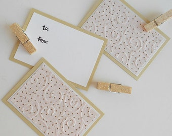 All Occasion Clothespin Gift Tags:  Handmade 3 Pack Mini Set - Daintiest Dots