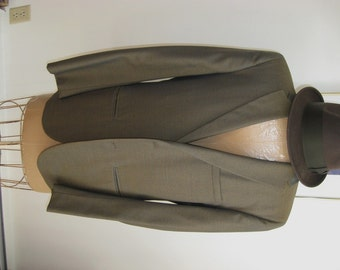 Mens Vintage Suit / /Madmen Look / Mens VINTAGE / Ad Agency Look / Cuffed Trousers / Sharkskin Jacket / Norwood Clothes New Britain, CT