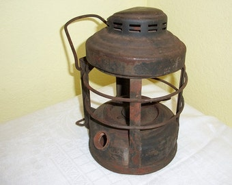 Vintage Awesome Embury Luck E Lite Railroad Lantern for Parts No. 25
