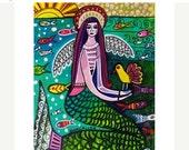 50% Off- Mermaid art Art Print Poster by Heather Galler (HG613)