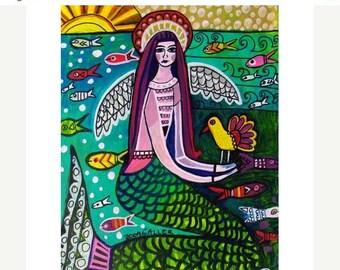 Mermaid art Art Print Poster by Heather Galler (HG613)