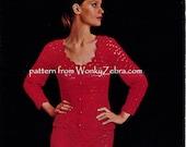 Vintage Crochet Skirt and Jacket Suit Patterns PDF 744 from WonkyZebra