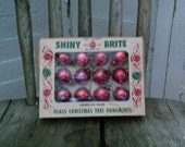 Vintage Antique Glass Feather Tree Christmas Shiny Brite Ornaments