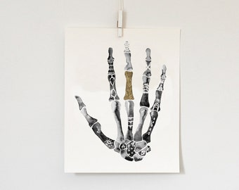 Right Hand with Gold Leaf, 8x10  print