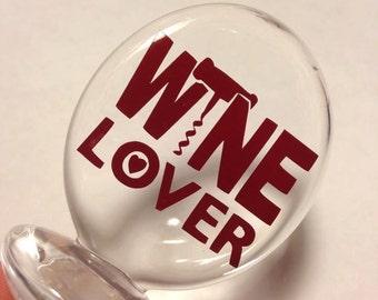 Wine Lover Acrylic Bottle Cork
