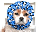Blue Panda Dog Snood / Stay Put 3 Row Elastic Threads / Cavalier King Charles or Cocker Snood