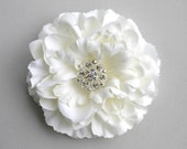 Flower Wedding Hair Accessory - Ivory Flower Hair Clip - Flower Bridal Accessory - Facinator