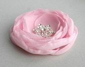 Light Pink Flower Hair Piece, Flower Fascinator, Light Pink Flower Hair Clip, Pink Flower For Hair, Bridal Accessory, Bridesmaid Accessory