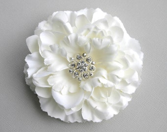 Flower Wedding Hair Accessory - Ivory Flower Hair Clip - Flower Bridal Accessory - Facinator
