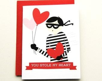 Heart Bandit  - Valentine's Day Card