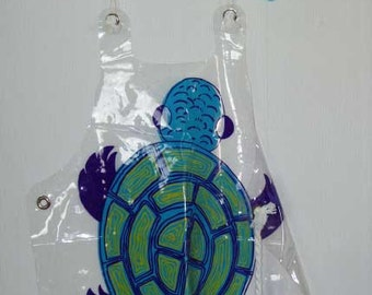 Apron with Turtle Graphic from 1970s just in time for the summer barbecue