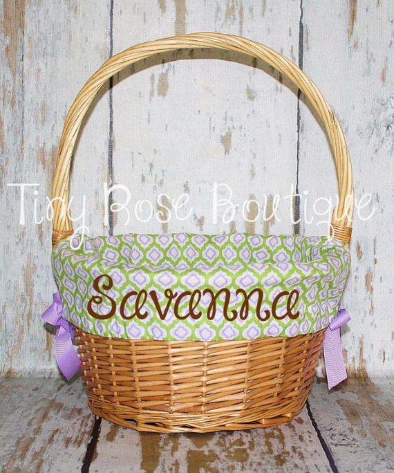 Easter Basket Liner Comes Personalized Purple By