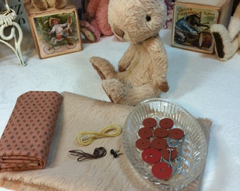 COMPLETE KIT - FAWN Big Ear Petite Lapin. For Artful Gathering 2015 - For Session 2 students