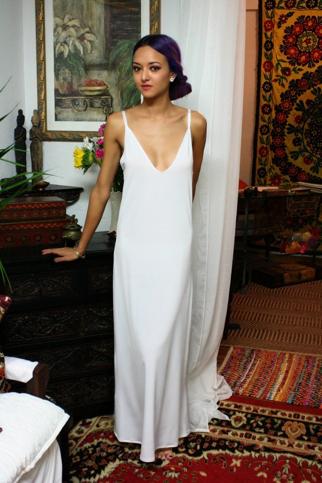 White slip dress  Etsy