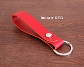 Personalized Leather KEY CHAIN - attachable to belt loop