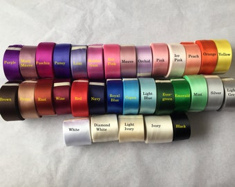 Sash ribbon sample - choose up to 5 colors