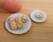 Miniature Dollhouse Cinnamon Rolls
